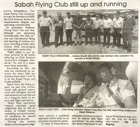Sabah Times News article 23 April 2019