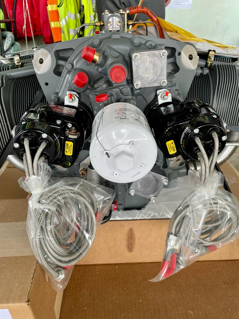 Lycoming Engine for 9M-SFC arrival at SFC/LLA hangar - 22July2021